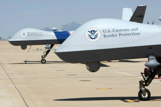A pair of Customs and Border Protection UAS aircraft located at the southern border are standing by to air operations.